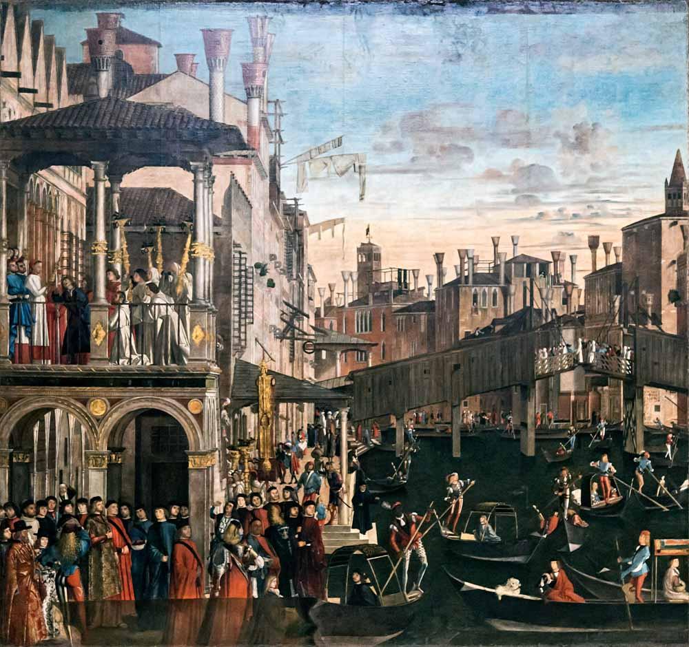 Milagro de la reliquia de la Cruz en Rialto  (1496)