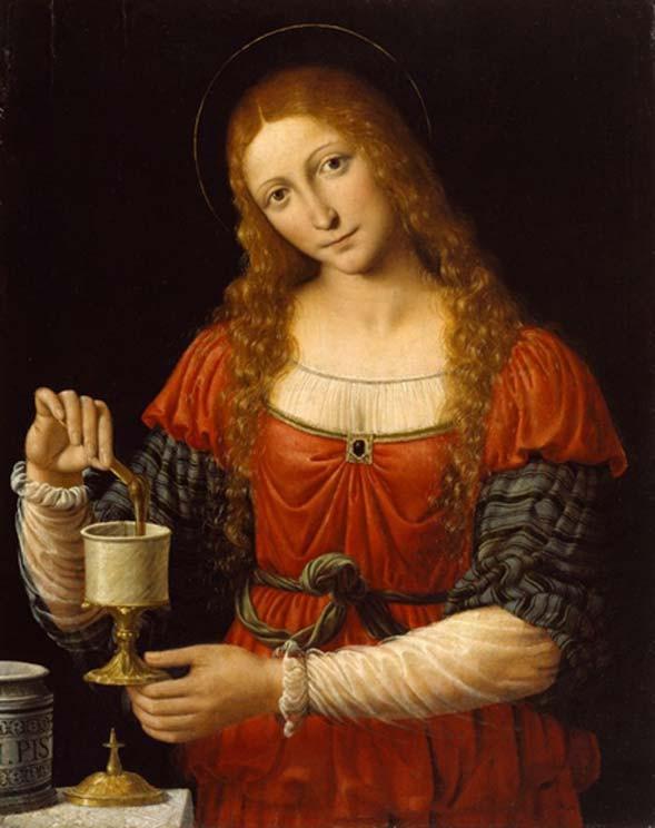 Maria Magdalena con el Santo Grial en cuadro de Solari