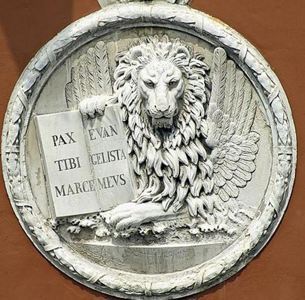 Leone in Moeca en el palacio Dieci Savi en Rialto