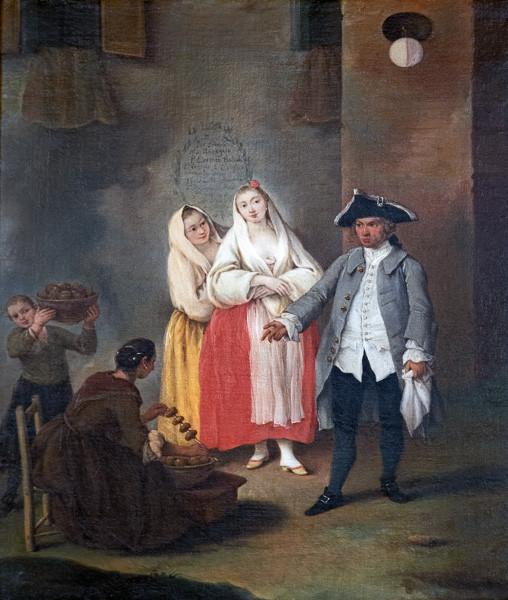La vendedora de frittelle- Longhi