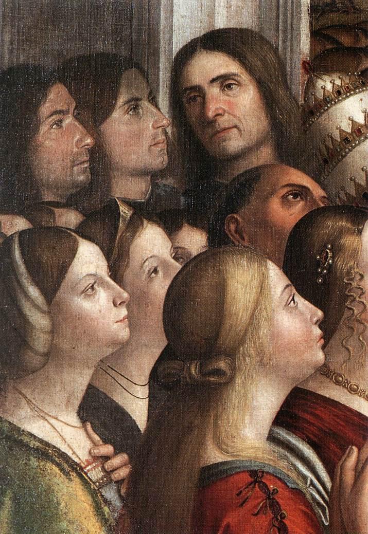 Detalle venecianos en el Renacimiento en el cuadro Apoteosis de santa Úrsula y sus compañeras (1491)