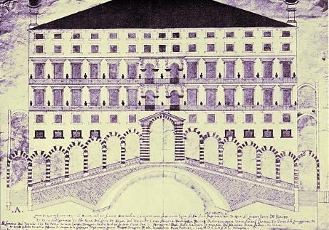 Proyecto del Puente de Rialto de Guglielmo Marastoni.