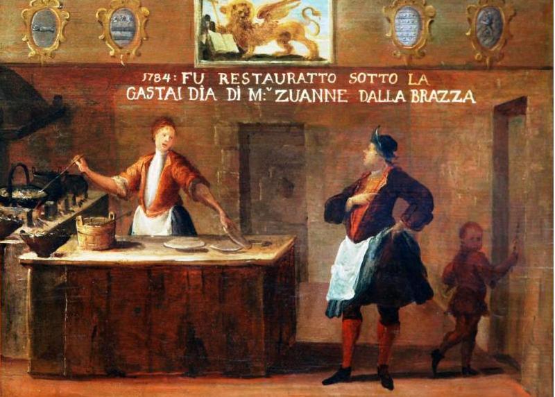 Cartel sobre el Arte de los Fritoleri, óleo sobre tabla, 1784 (Museo Correr)