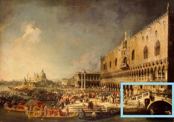 Llegada del embajador francés Jacques-Vincent Languet a Venecia - CANALETTO (1726)