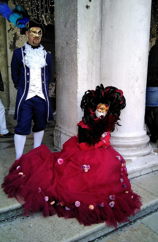 Dama de rojo. Foto: Marisol Suarez