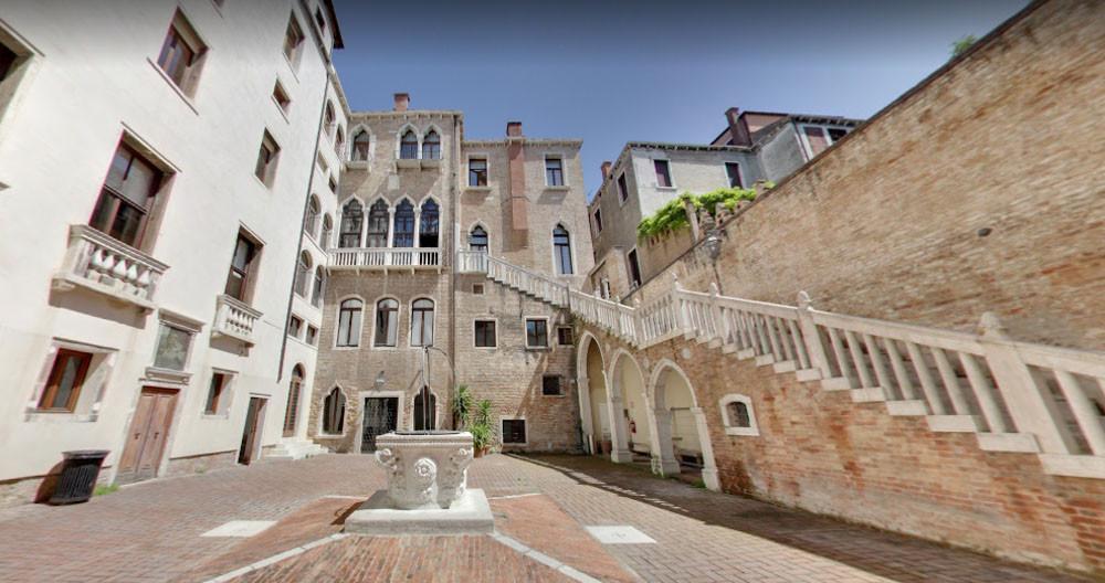 El patio del palacio Giustinian dei Vescovi