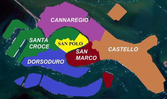 El pez de Venecia con sus 6 barrios