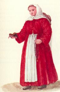 Vestido tradicional de una chica del Hospicio de la Pietà