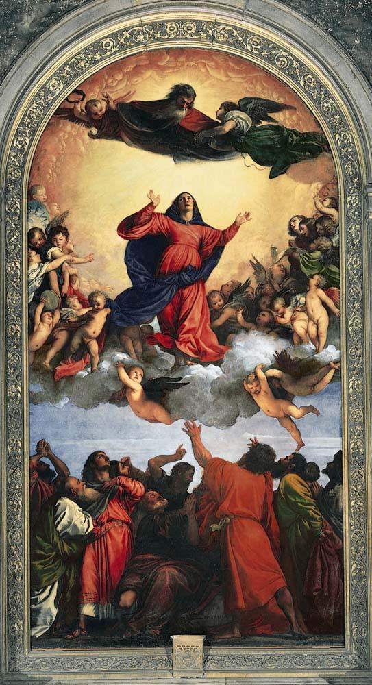 El retablo de la Asunción de la Virgen de Tiziano en la Basílica dei Frari (Venecia)