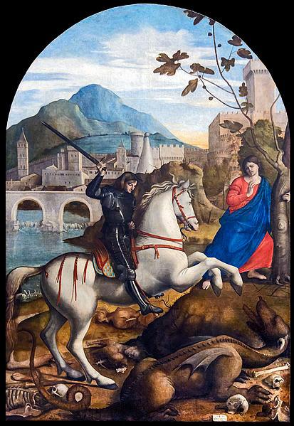 San Jorge, la princesa y el dragón de Basaiti