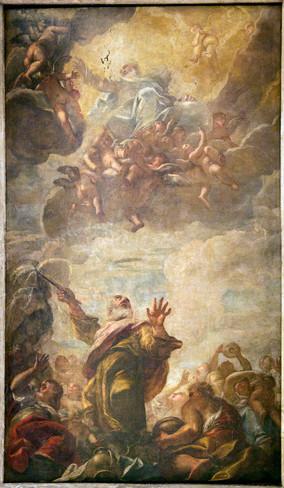 Techo- Moisés golpea la roca