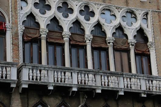 Ventanas góticas de la fachada