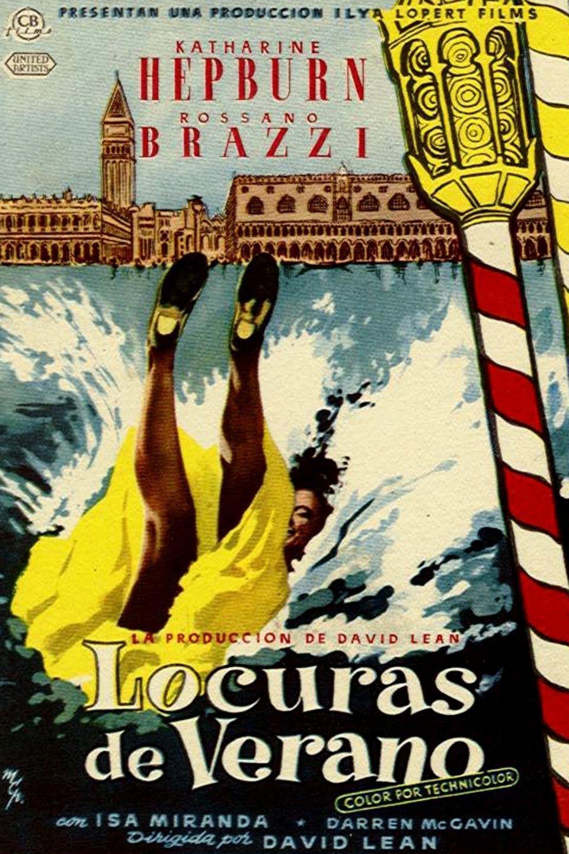 """El cartel de la película """"Locuras de verano"""" (Summertime) protagonizada por Katharine Hepburn"""