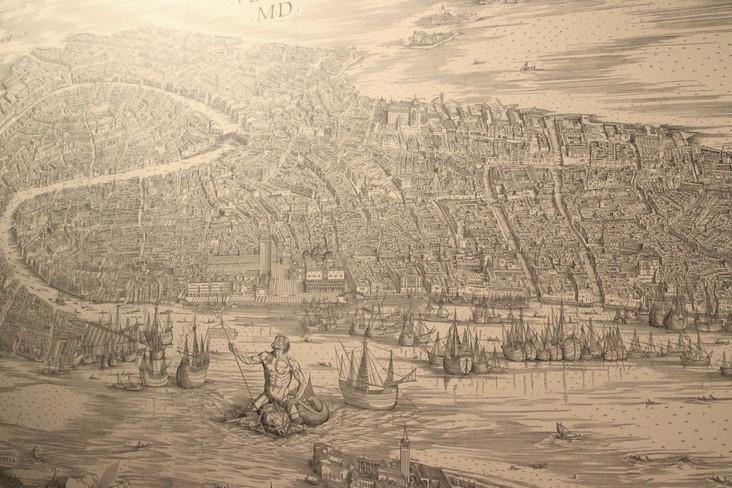 mapa de Venecia de Barbari (1500)