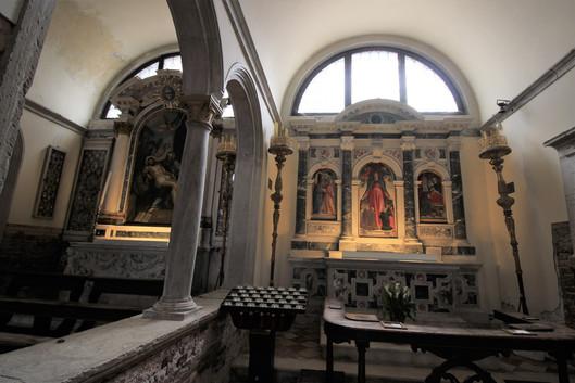 Tríptico de la misericordia del pintor murano Bartolomeo Vivarini es