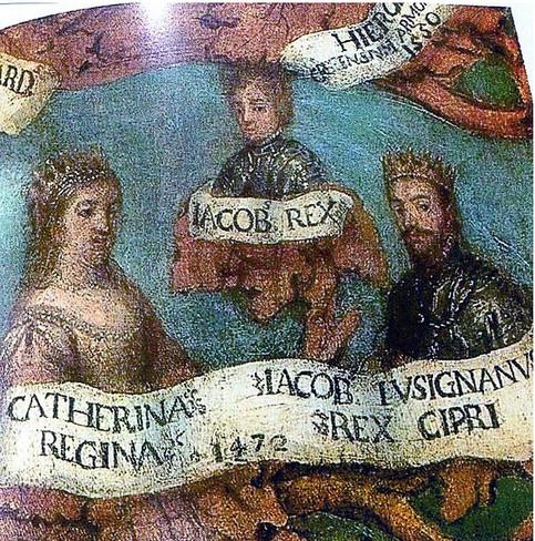 Fresco de Caterina Corner reina de Chipre