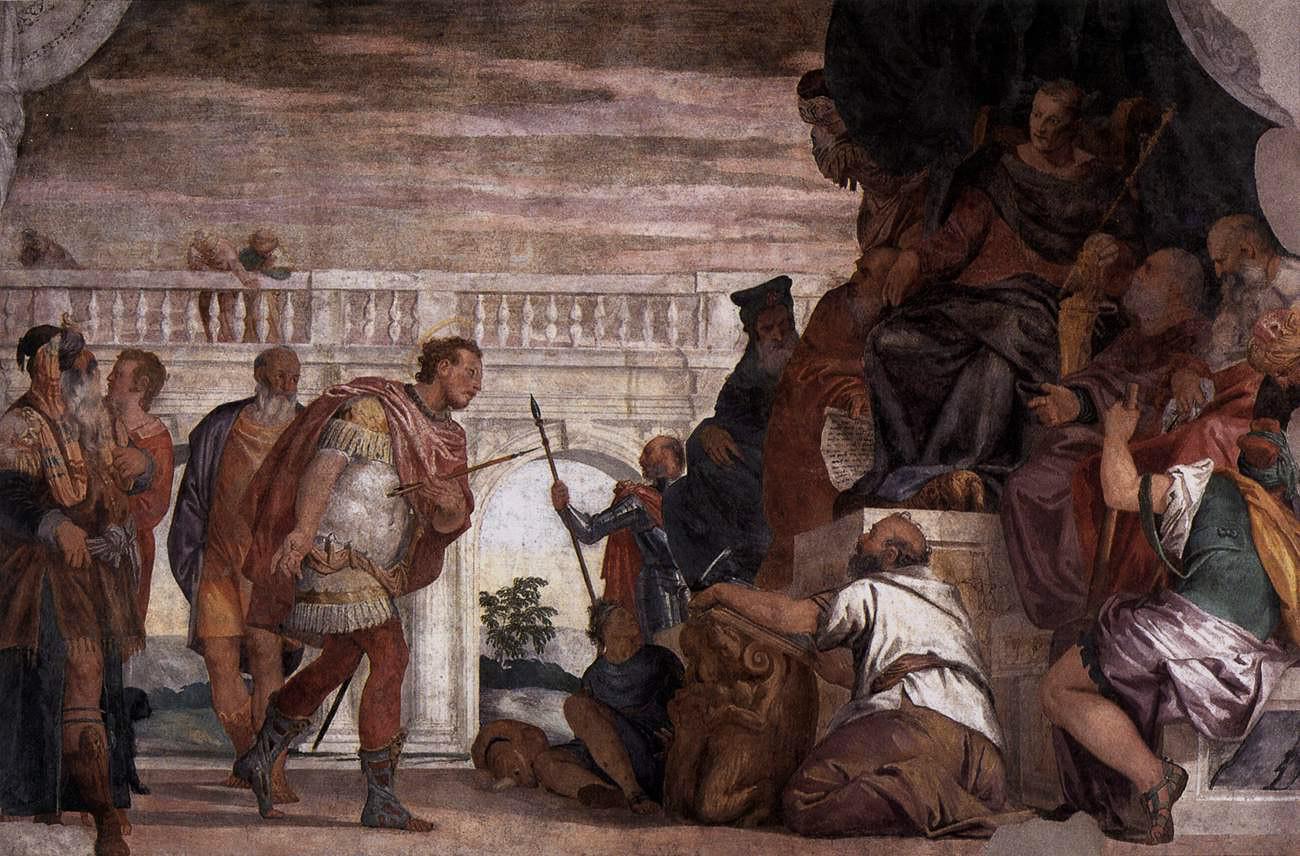 San Sebastián ante Diocleciano de Veronés