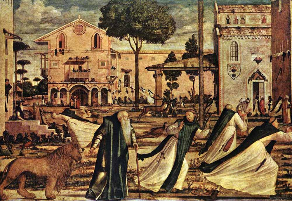 San Jerónimo y el león en el convento (1502)