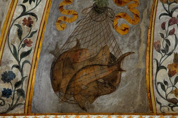 Detalle del comedor. pintado por Camilo Mantovano Foto: Palgri, CC BY-SA 4.0 <https://creativecommons.org/licenses/by-sa/4.0>, via Wikimedia Commons