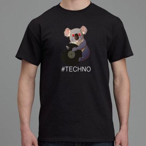 Hungry Koala Records Shirt BLACK #Techno