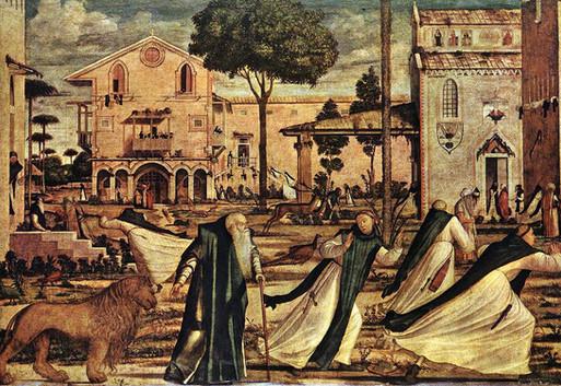 San Jerónimo y El Leon, detalle