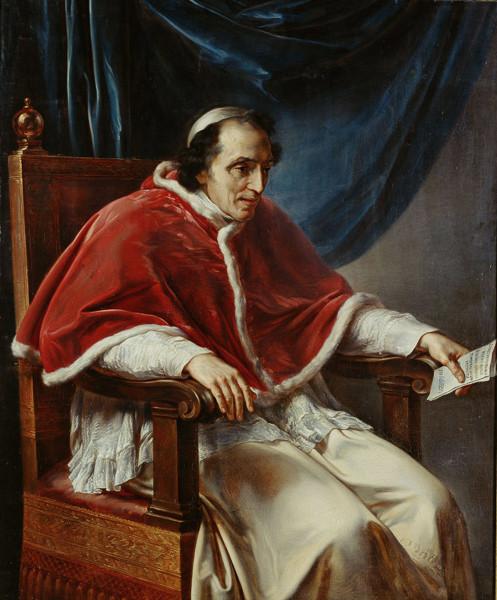 El papa Pio VII elegido aquí mismo Papa