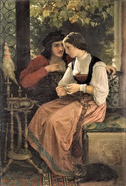 Encuentro de enamorados en el Renacimiento
