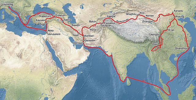 Los itinerarios de los viajes de Marco Polo