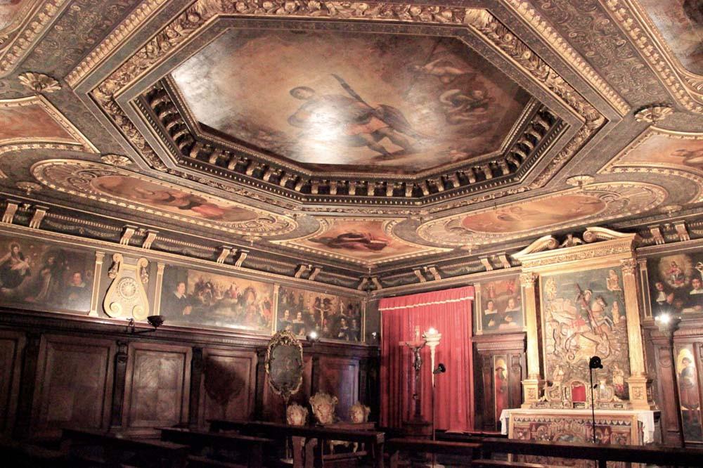 Planta superior Scuola Dalmata Carpaccio Venezia