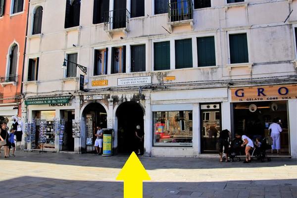 Siguiendo la flecha al Casin dei Nobili (próximo post en unos días)