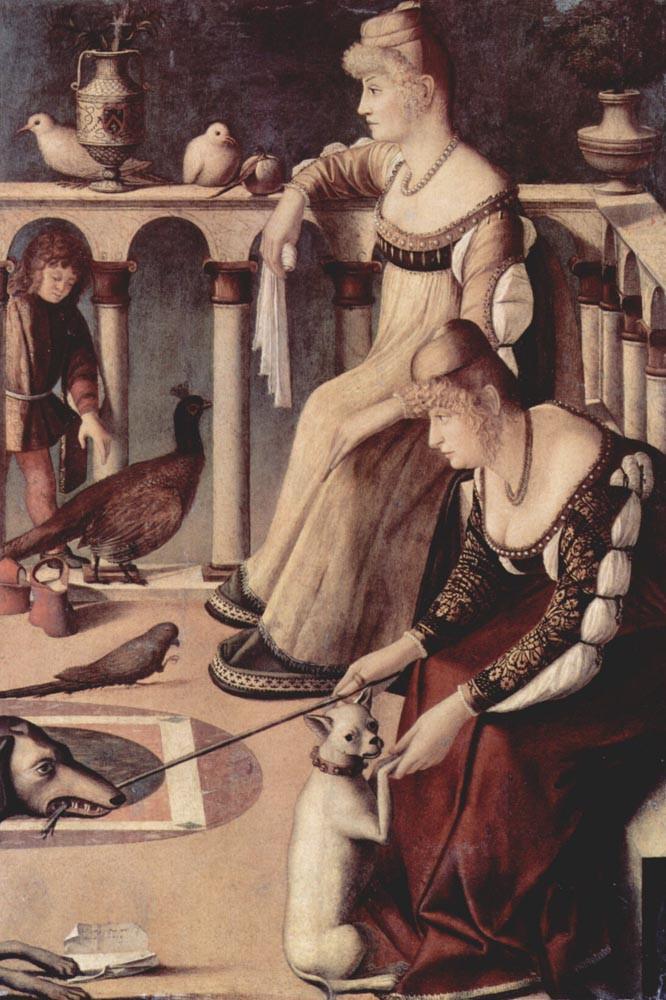 cuadro Dos damas venecianas , 1490-1495