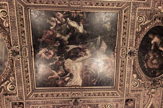 Moisés hace fluir el agua de la roca, Tintoretto