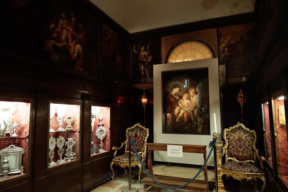 Cuadro de Rubens en el interior, en la capilla Molin