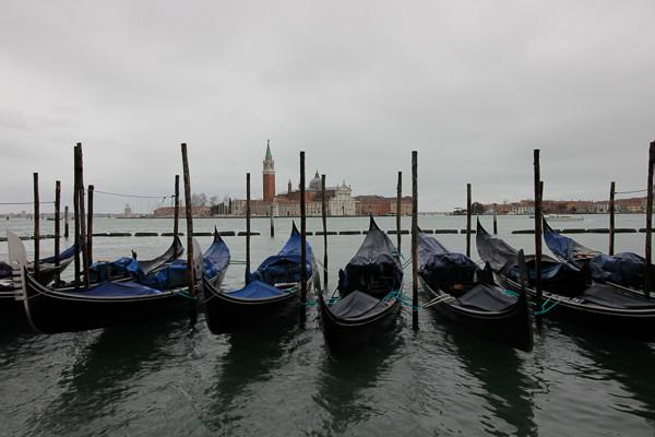 Visla de la isla de San Giorgio Maggiore desde la Cuenca de San Marcos