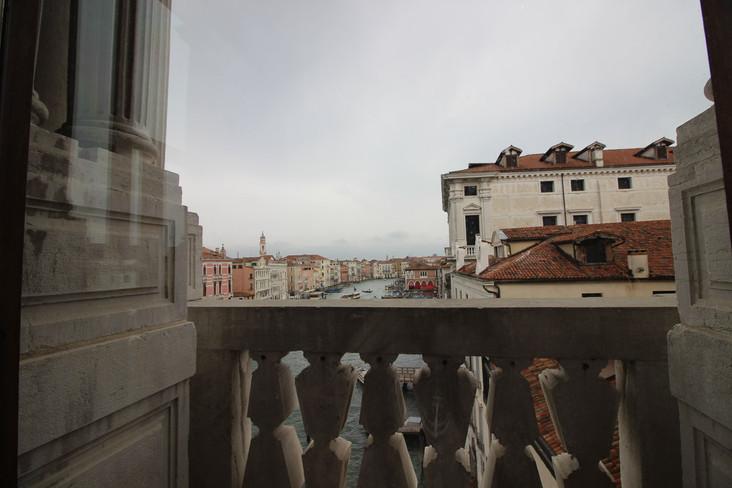 Vistas desde uno de los balcones del Gran Canal