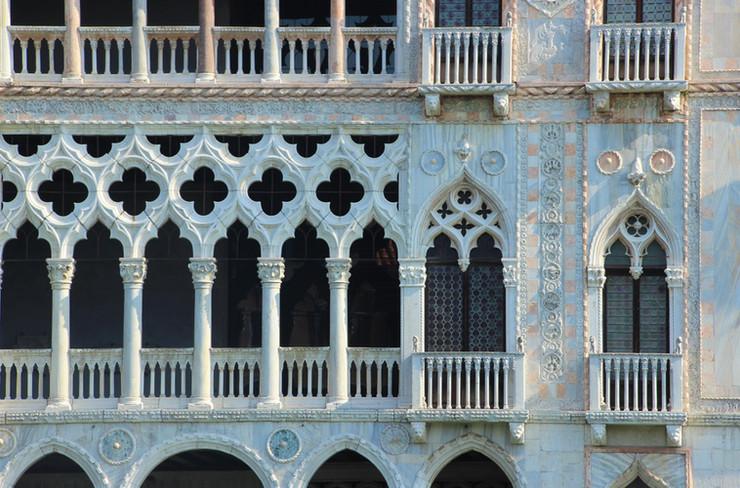 Detalle ventanales góticos