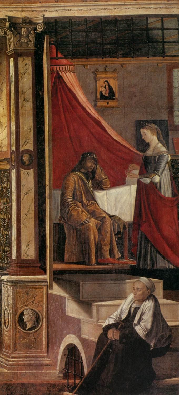 Detalle Llegada de los embajadores ingleses a la corte del rey de Bretaña (1495)
