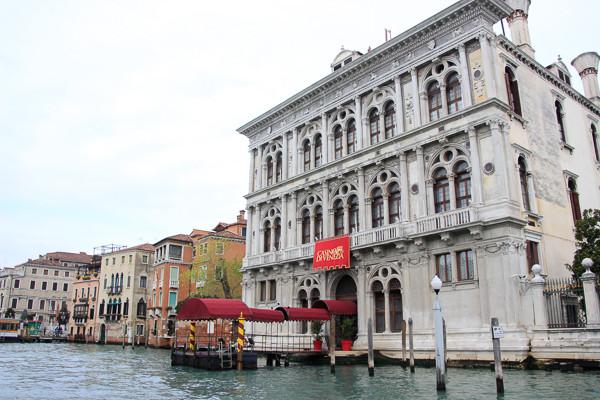 Fachada del palacio Ca 'Vendramin Calergi , hoy el Casino de Venecia