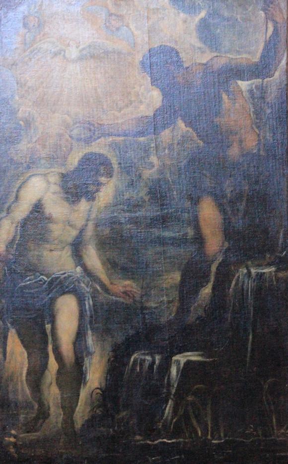 El Bautismo de Cristo de Tintoretto