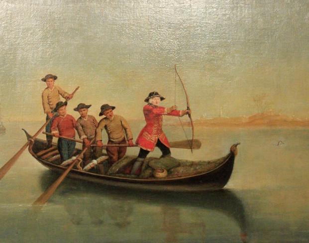 La caza del pato de Pietro Longhi