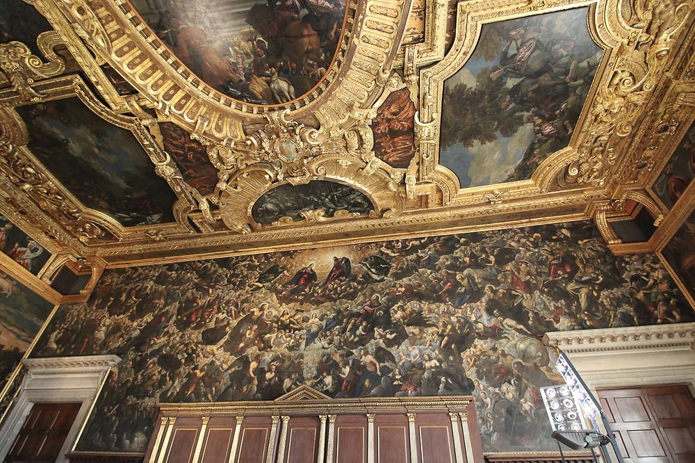 """""""Paraíso"""", centro de la atención de la Sala Mayor del Consejo (Sala del Maggior Consiglio)  Tintoretto"""