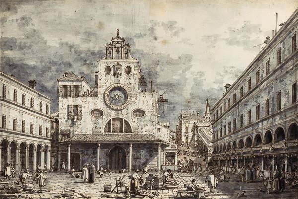 El trasiego de la plaza en el siglo XVII (cuadro de Canaletto)