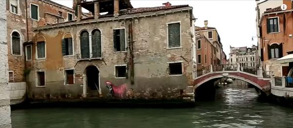 El mural de Banksy en Venecia