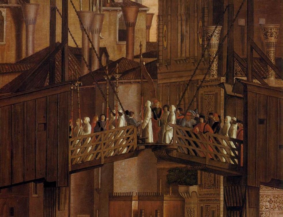 Detalle de la parte elevable del puente de Rialto
