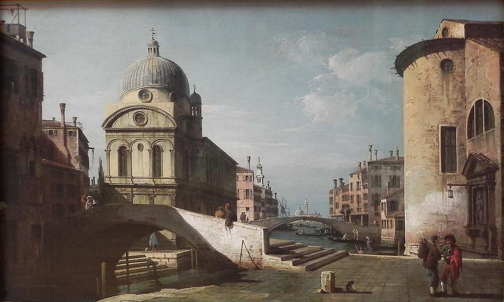 La iglesia en cuadro de Bernardo Bellotto (1740)