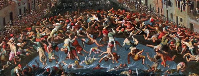 Detalle de una pelea entre Castellanis y Nicolottis