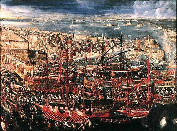 "Alessandro Piazza, ""La partida de Francesco Morosini fhaica Levante"" final del siglo XVII (Museo Correr)"