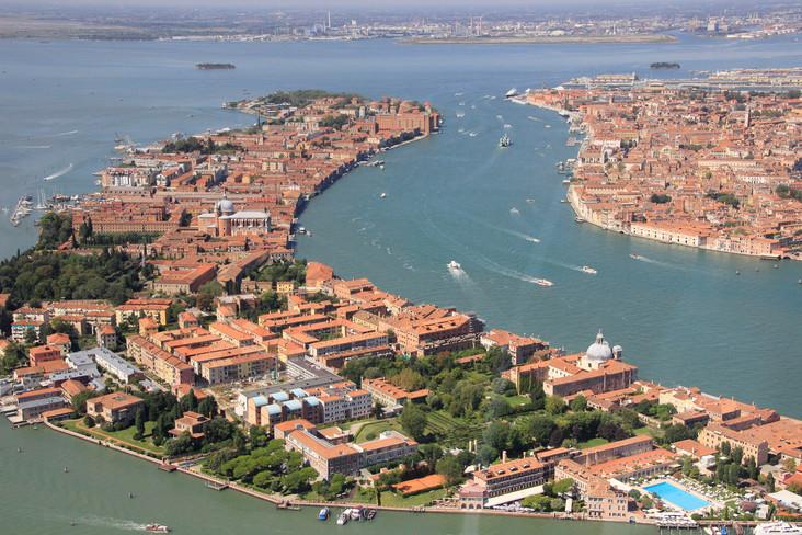 Vista aerea de la isla de la Giudecca