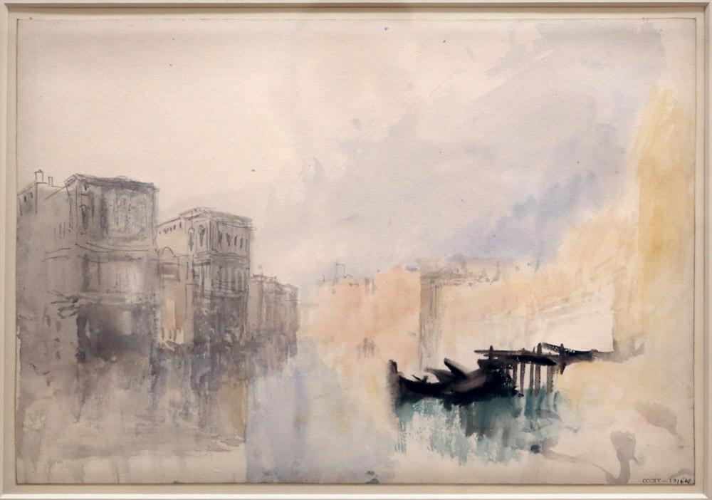 Cuadro de Turner con el antiguo Traghetto de San Felice, y Ca' Corner della Regina y Ca' Pesaro a la izquierda (1840). Foto: Sailko, CC BY 3.0 <https://creativecommons.org/licenses/by/3.0>, via Wikimedia Commons