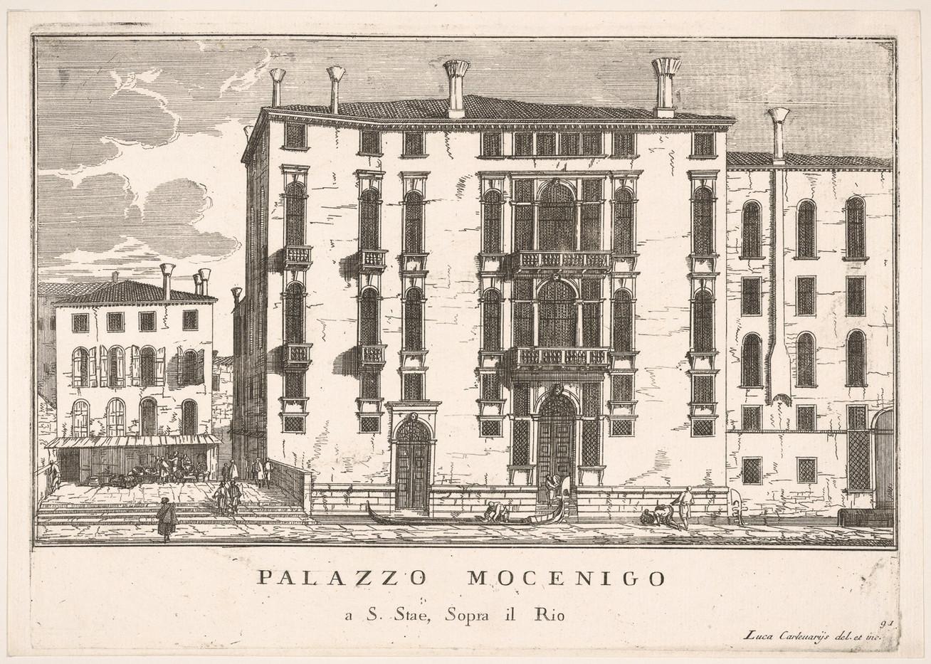 Vista del palacio Mocenigo en el campo San Stae